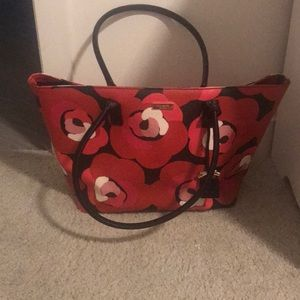 Kate Spade Floral Leather Bag